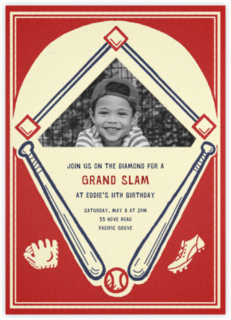 Batter Up (Photo) - Paperless Post - Online Kids' Birthday Invitations
