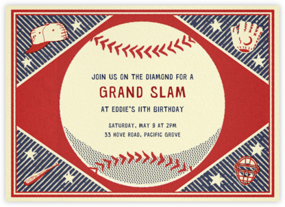 Batter Up - Paperless Post - Online Kids' Birthday Invitations