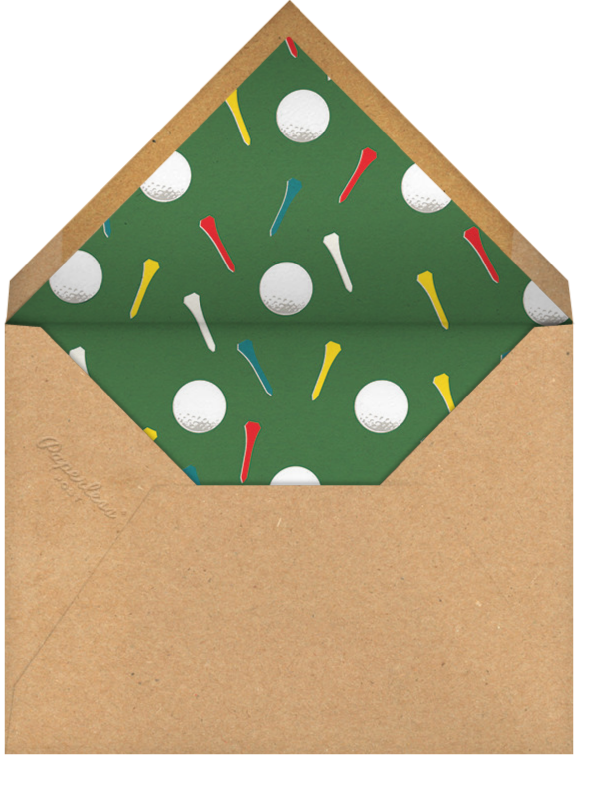 Tee Time (Photo) - Paperless Post - Adult birthday - envelope back