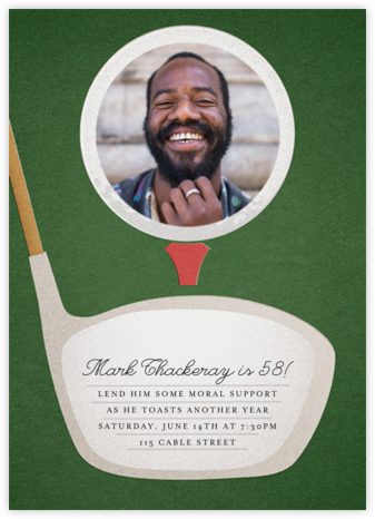 Tee Time (Photo) - Paperless Post - Adult Birthday Invitations