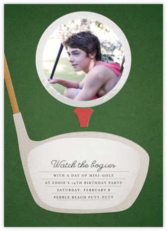 Tee Time (Photo) - Paperless Post - Online Kids' Birthday Invitations