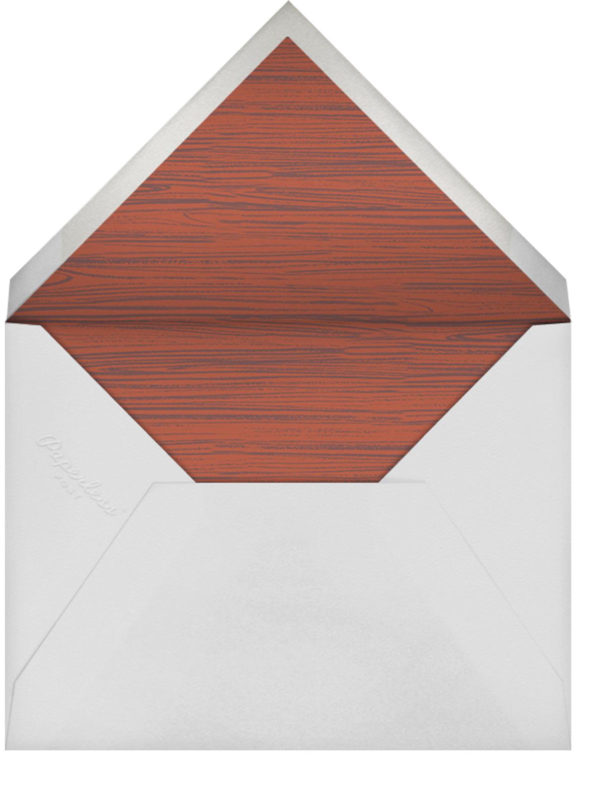 Cock of the Walk - Paperless Post - Rehearsal dinner - envelope back