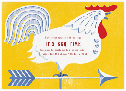 Cock of the Walk - Paperless Post - Barbecue and picnic invitations