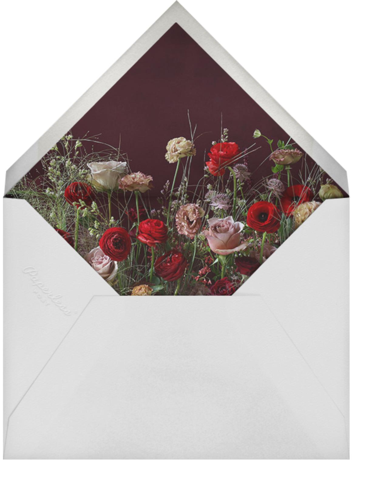 Brumaire - Putnam & Putnam - Dinner party - envelope back