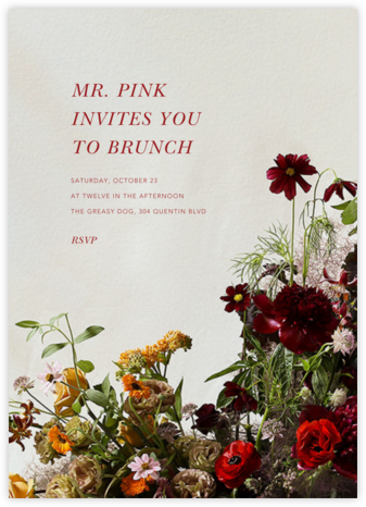 Brumaire - Putnam & Putnam - Brunch invitations