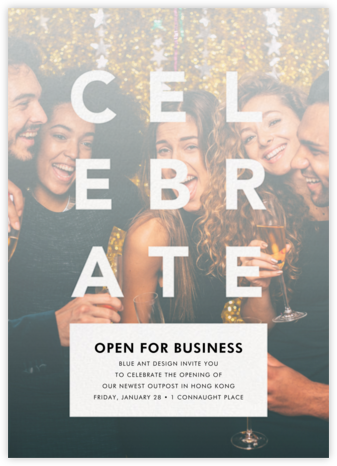 Celebratory Haze - White - Paperless Post - Business Party Invitations