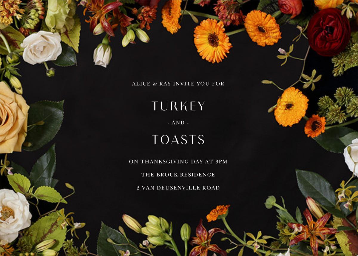 Vendémiaire (Horizontal) - Putnam & Putnam - Thanksgiving invitations