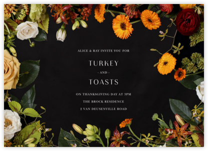 Vendémiaire (Horizontal) - Putnam & Putnam - Autumn entertaining invitations