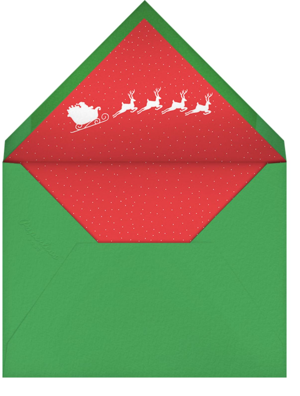 Vintage Saint Nick - Paperless Post - Christmas party - envelope back