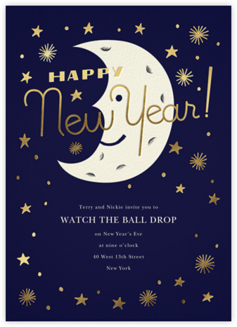 New Moon - Paperless Post - New Year's Eve Invitations