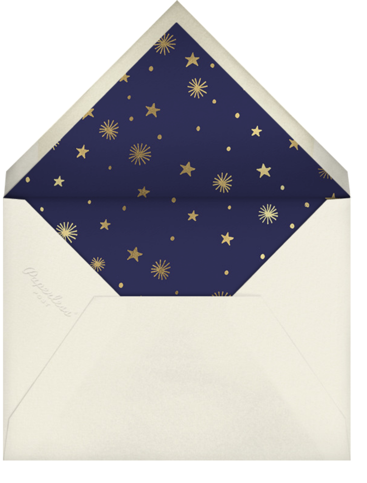 New Moon - Paperless Post - New Year's Eve - envelope back