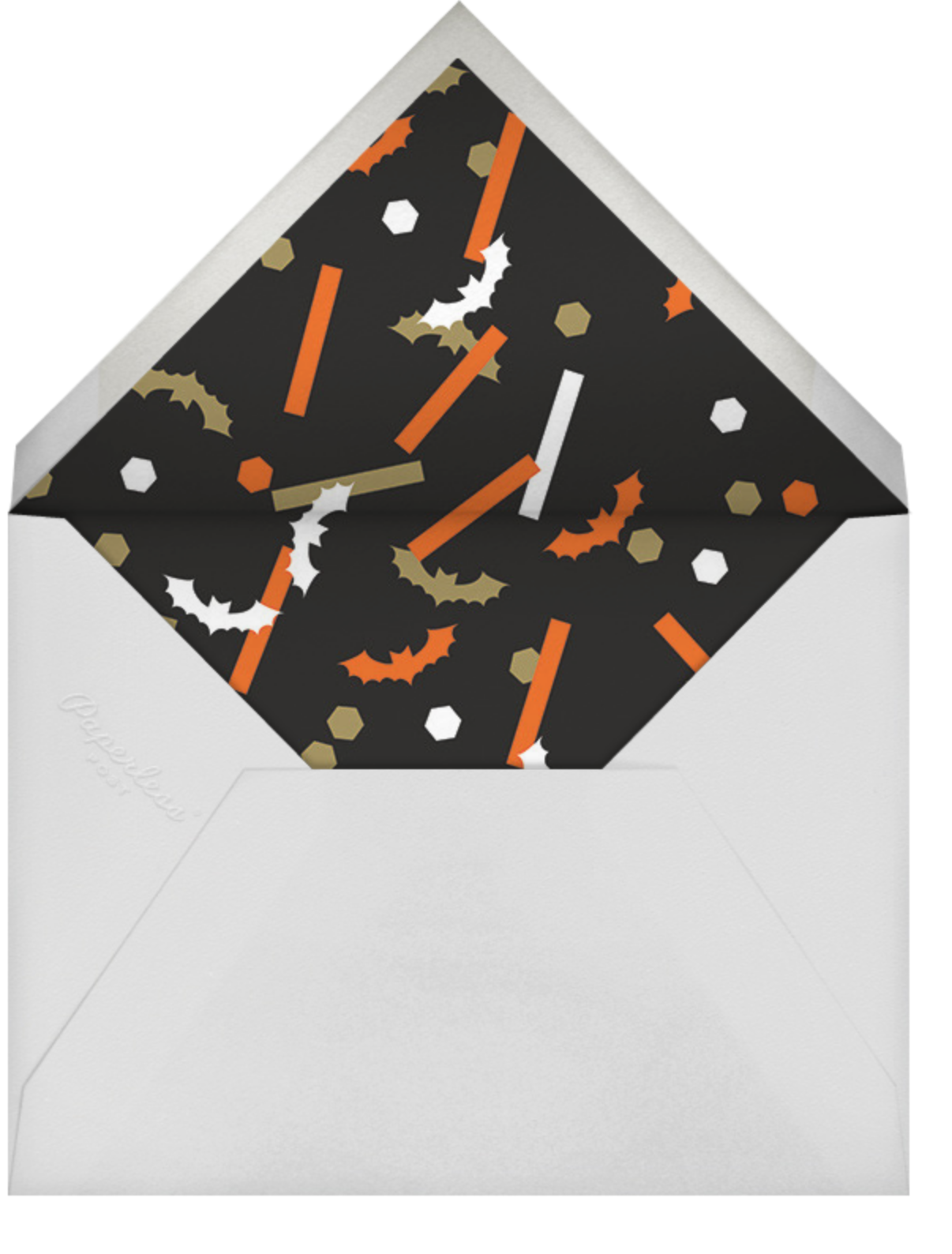 Frightful 'Fetti - Paperless Post - Halloween - envelope back