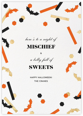 Frightful 'Fetti - Paperless Post - Halloween cards
