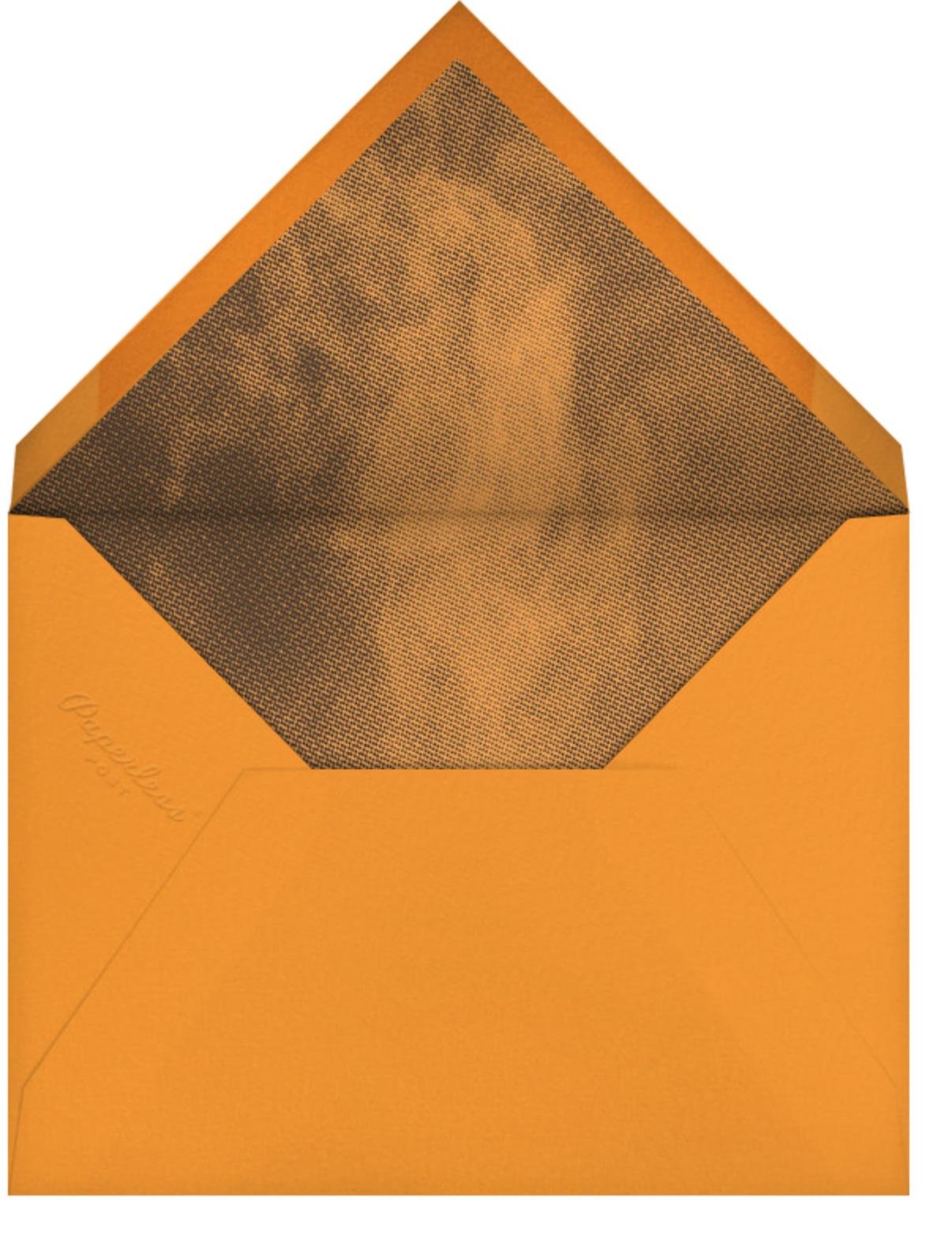 Handpainted Pumpkin - Paperless Post - Halloween - envelope back