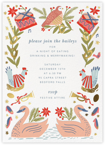 12 Days of Gifts - Hello!Lucky - Holiday party invitations