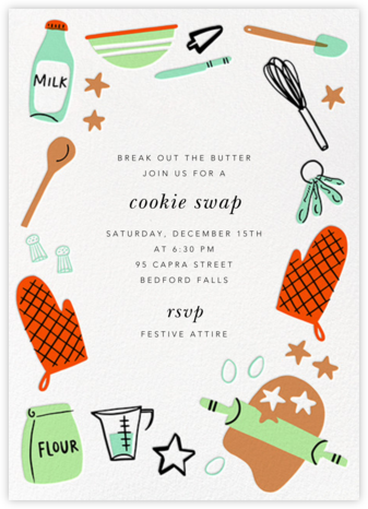 Let's Bake - Hello!Lucky - Cookie Swap Invitations