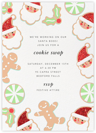 A Very Cookie Christmas - Hello!Lucky - Cookie Swap Invitations