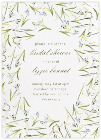 Snowdrop - Paperless Post - Bridal shower invitations