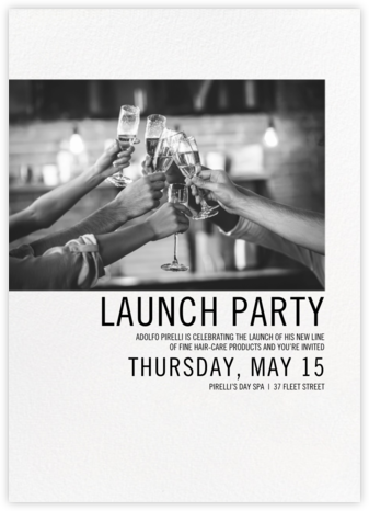 Mise en Scène - Paperless Post - Launch Party Invitations