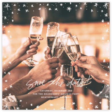 Among the Stars (Square) - Linda and Harriett - Holiday Save the Dates