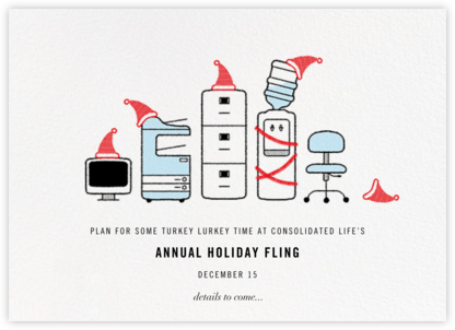Office Space - Paperless Post - Holiday Save the Dates