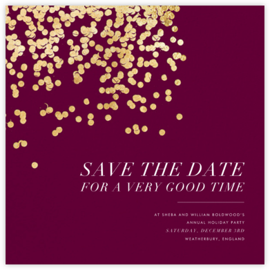 Bijou - Merlot - Kelly Wearstler - Save the dates