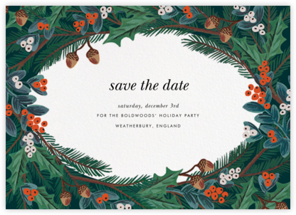 Winter Foliage (Save the Date) - Rifle Paper Co. - Holiday Save the Dates