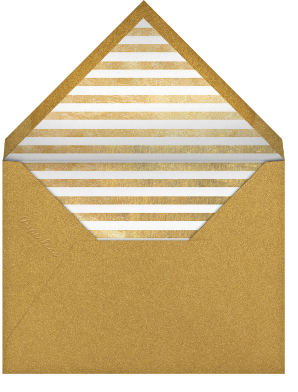 Extended Fun - Gold - Paperless Post - Holiday save the dates - envelope back