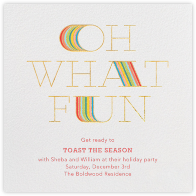 Extended Fun - Gold - Paperless Post - Holiday Save the Dates
