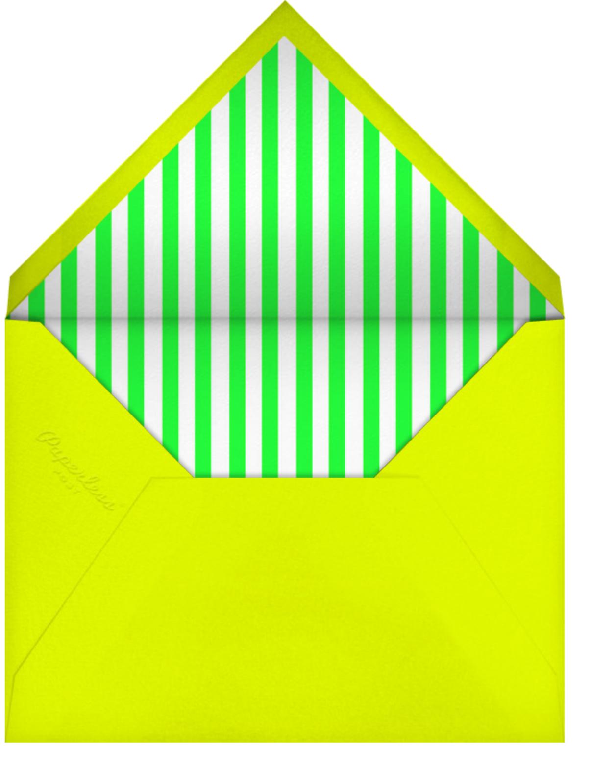 SupergraphicRibbon - Yellow - Paperless Post - Summer entertaining - envelope back