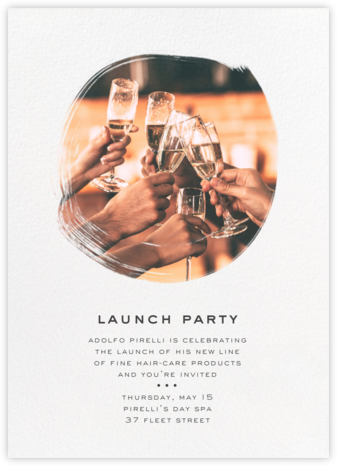 Painted Circle - Paperless Post - Business Party Invitations
