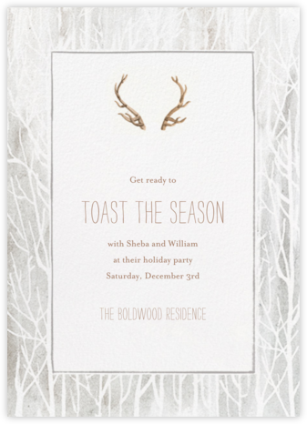 Antlers on the Mantle - Paperless Post - Save the dates