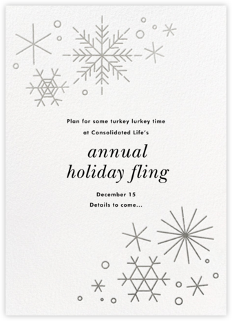 No Two Alike - Silver - Paperless Post - Holiday save the dates