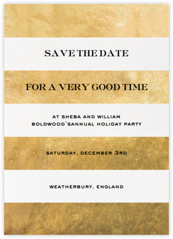 Evergreen Stripes - Gold/White - kate spade new york - Save the dates