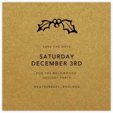 Fort Knox (Square) - Paperless Post - Holiday save the dates