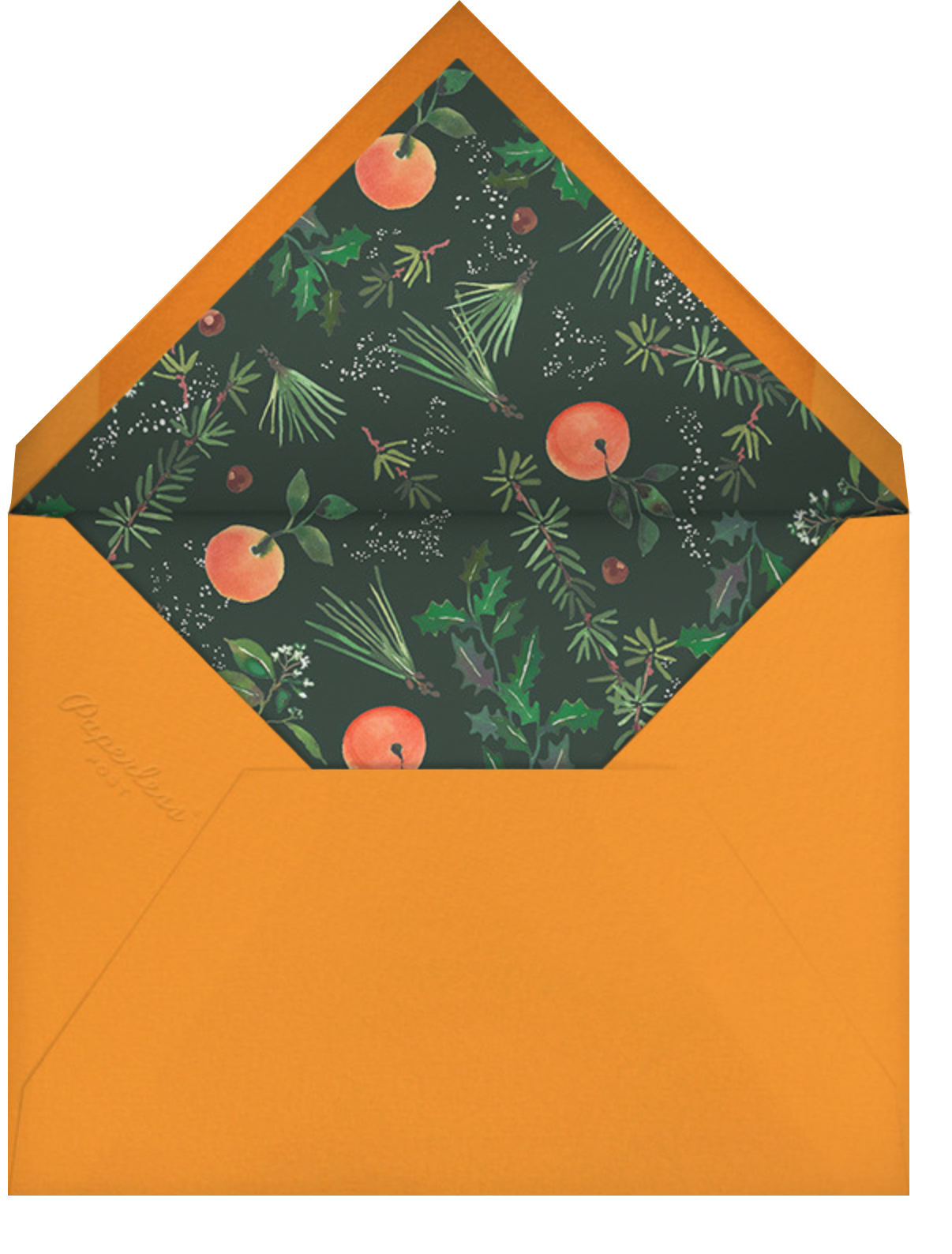 Holiday Market - Happy Menocal - Holiday save the dates - envelope back
