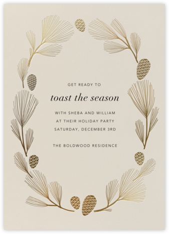 Sugar Pine - Santa Fe/Gold - Paperless Post - Holiday Save the Dates