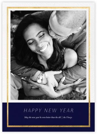 Panneaux - Midnight/Gold - Paperless Post - New Year cards