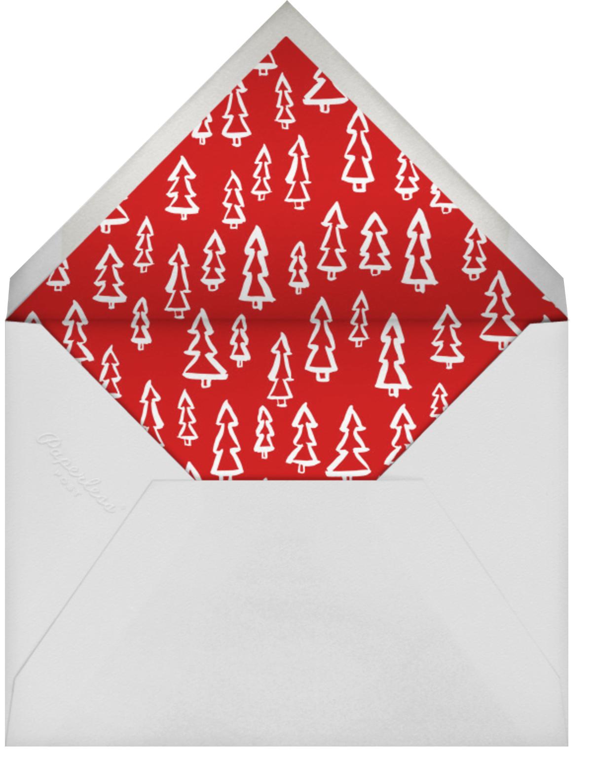 Merry Christmas Sprigs - Linda and Harriett - Christmas - envelope back