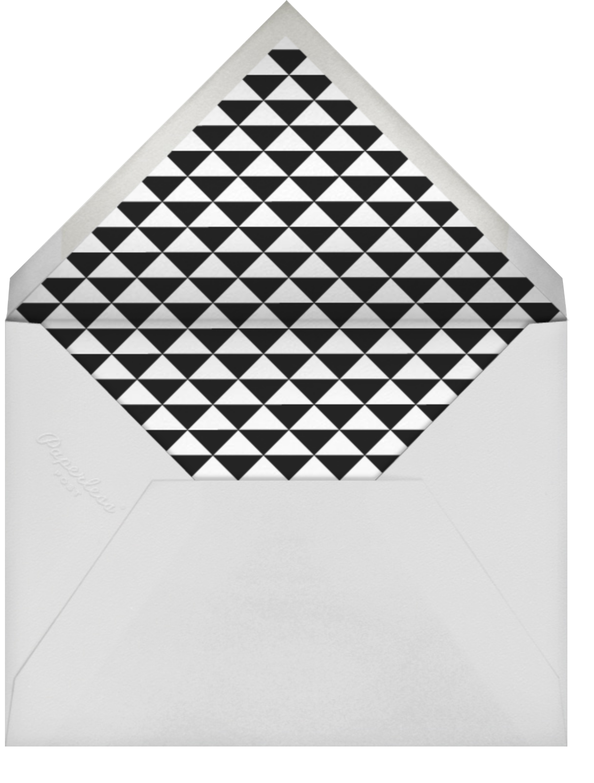 Painted Circle - Silver - Paperless Post - Adult birthday - envelope back