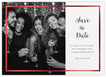 Idylle (Photo Save the Date) - White/Red | horizontal