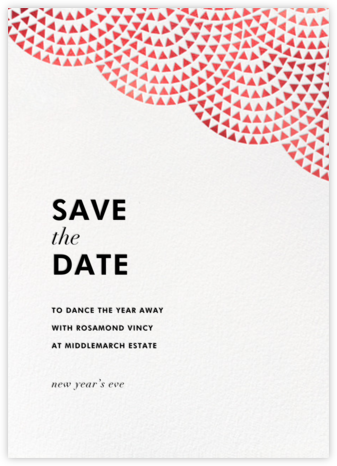 Savoy (Save the Date) - Red - Paperless Post - Holiday Save the Dates