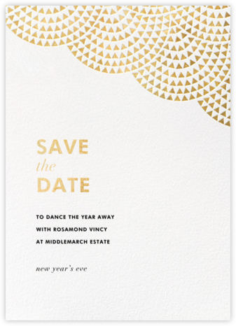 Savoy (Save the Date) - Gold - Paperless Post - Business Party Invitations