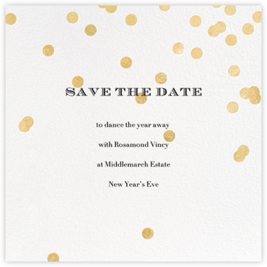 Come Celebrate - Ivory/Gold - kate spade new york - Holiday save the dates
