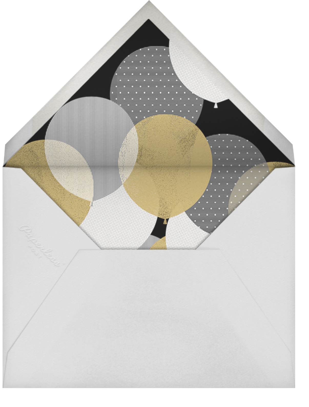 Curtain Raiser - Paperless Post - Holiday save the dates - envelope back
