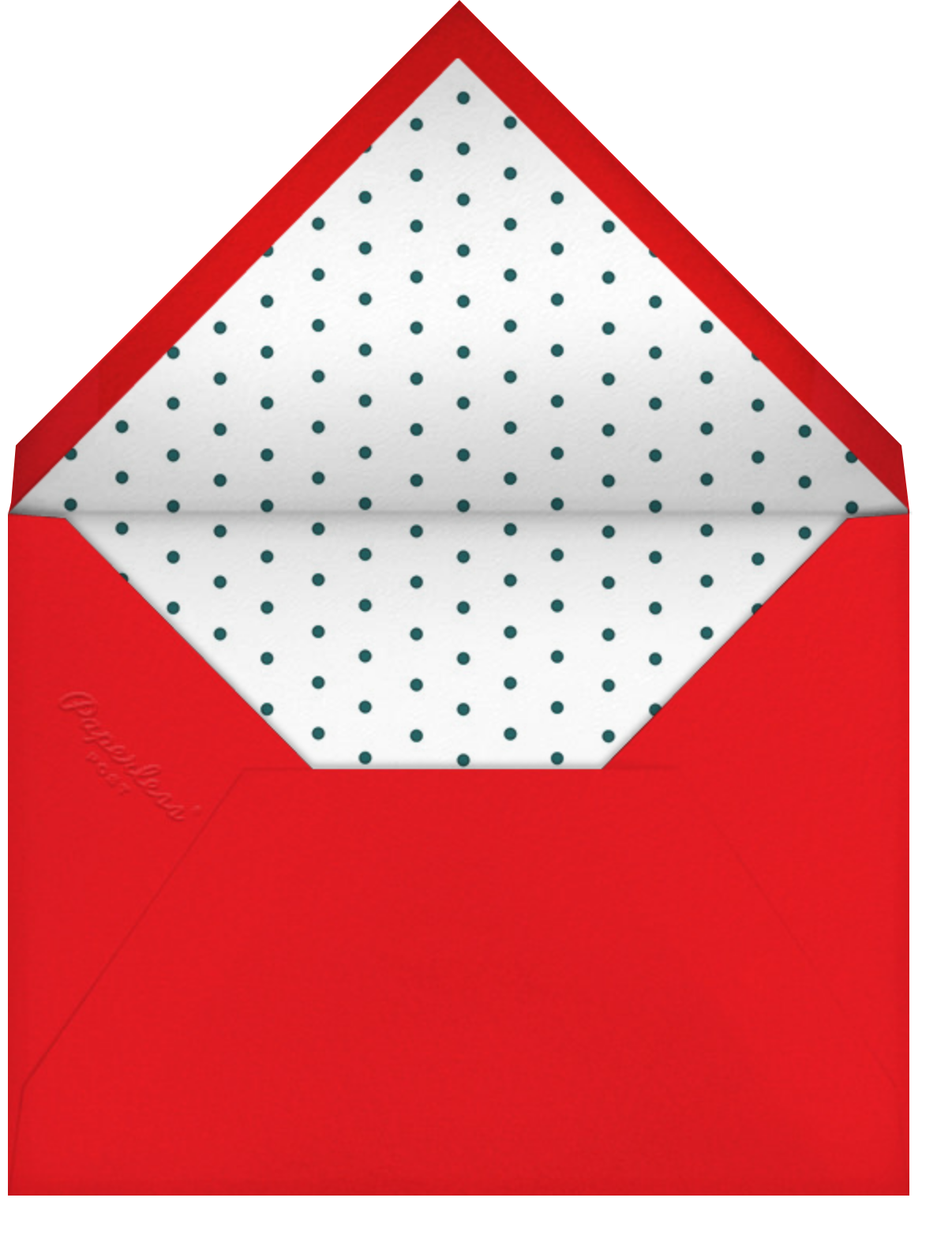 Perfect Package - Red - Cheree Berry - Christmas party - envelope back
