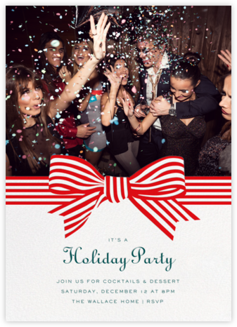 Perfect Package - Red - Cheree Berry - Holiday party invitations