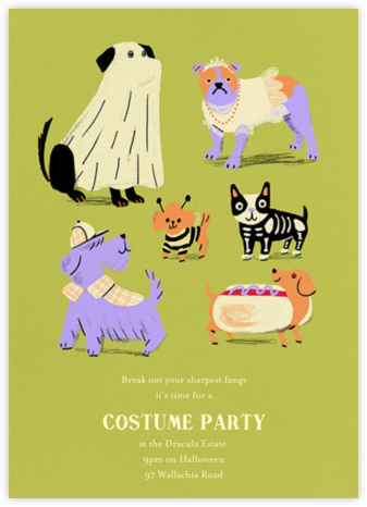 Howlin' Halloween - Green - Paperless Post -