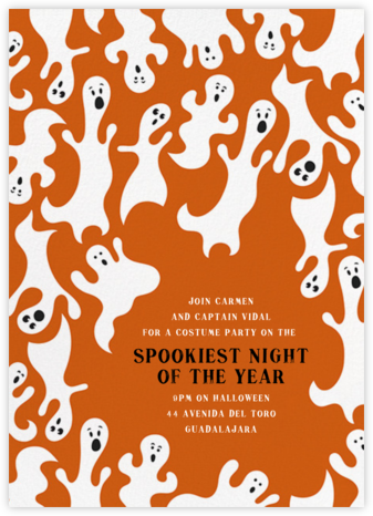 Ghostly Hosts - Crate & Barrel - Halloween invitations