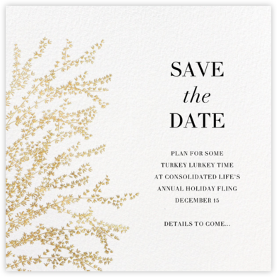Forsythia - Gold - Paperless Post - Holiday Save the Dates